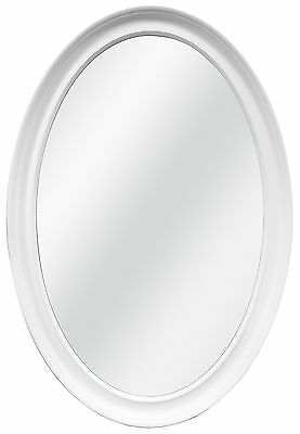 MCS White Oval Wall Mirror 21-Inch by 31-Inch