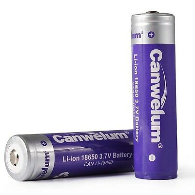 Canwelum Protected 18650 Lithium Ion Battery Powerful 18650 Rechargeable Batt...