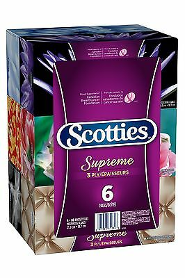 Scotties Supreme Facial Tissue 3-ply 88 sheets per box - 6 Pack