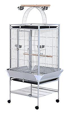 """PawHut D10-016 63"""" Large Bird Parrot Cage Stand Finch Feeder Play Top House P..."""