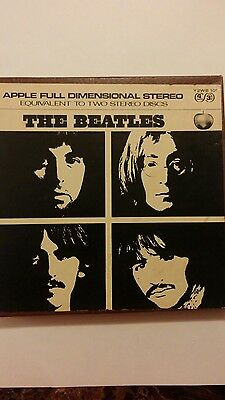 """The Beatles """"White Album"""" double play reel to reel tape 1969 play tested ex cond"""