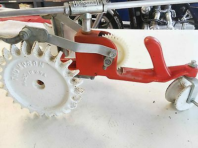 Vintage Thompson Walking Lawn Sprinkler Tractor Cast Iron Rain Train Spinning