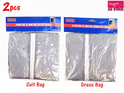 2x Dress Garment Cover Bag Storage Suit Protector Coat Dustproof Travel Wedding