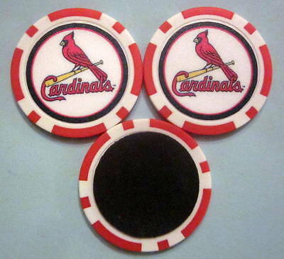 LOT 2 St Saint Louis Cardinals Baseball Poker Chip Magnets Locker Refrigerator