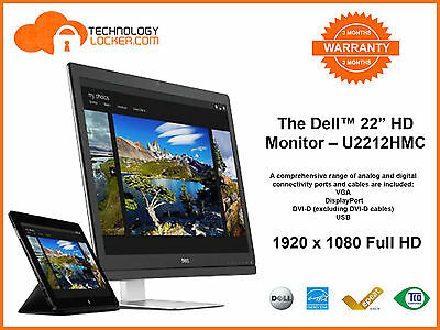 "Dell U2212HMC - 21.5"" Widescreen IPS LED LCD Monitor 22inch/21inch"