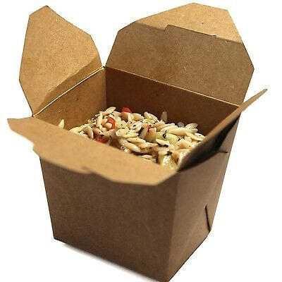 Restaurantware Large Bio Noodle Take Out Container (200 Count) 16-Ounce Brown