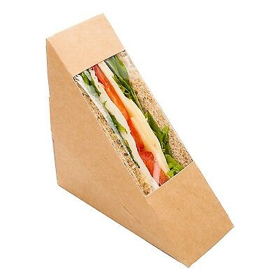 Restaurantware Cafe Vision Triangle Sandwich Box with Window (200 Count) Smal...