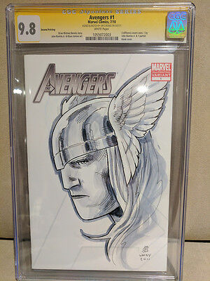 CGC SS 9.8 Avengers #1 - Thor Signed and Sketched by Jim Cheung Original Art