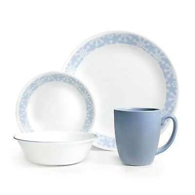 Corelle Livingware 16-Piece Dinnerware Set Crystal Frost Service for 4