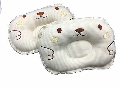 """icekon Bedding Colored Cotton Embroidered Baby Shaping Pillow Brown 11.8""""  8.6"""""""