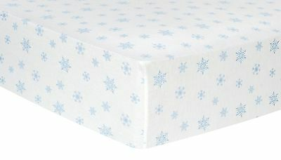 Trend Lab Blue Snowflakes Deluxe Flannel Fitted Crib Sheet