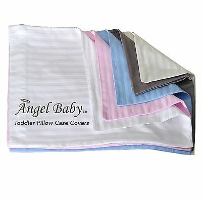 Angel Baby Toddler Pillow Case Cover - WHITE 100% NATURAL Cotton Percale 400 ...