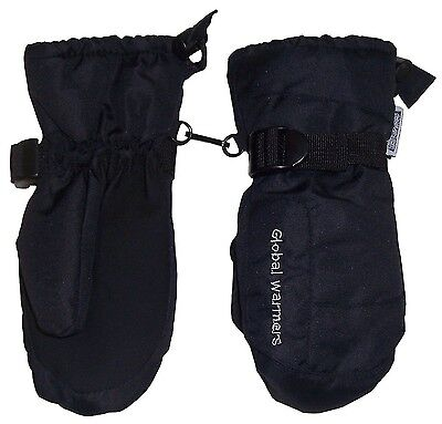 N'Ice Caps Adults Solid and Colourblocked Waterproof Puffy Ski Mittens (Black...