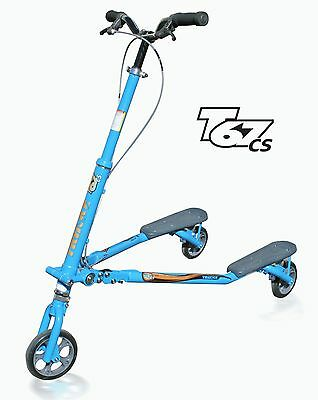 Trikke T67 Convertible Steel Scooter Blue
