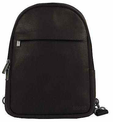 Kenneth Cole Single Gusset 10.2-Inch Computer Backpack Sling Brown Under Seat