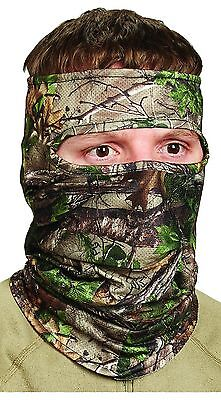 Scent-A-Way Silver Realtree Xtra Green Lightweight Spandex 3/4 Face Mask
