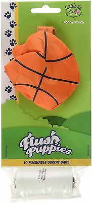 Flush Puppies FP-TP-8.2 Pouch Basketball 1 Roll 10 Bags Per Roll