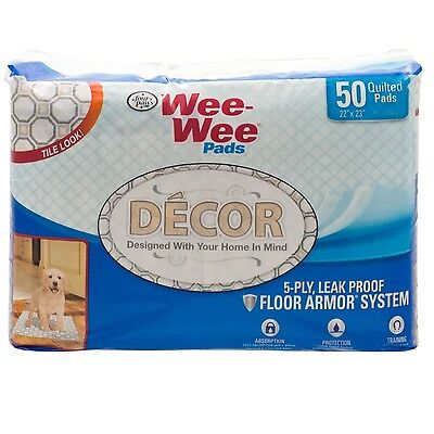 Four Paws Wee-Wee Pads Dcor Tile 50 count
