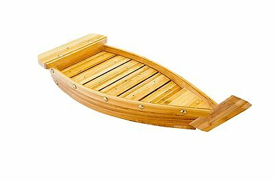 Restaurantware Large Bamboo Sushi Boat (1 Count Box) 17.3-Inch Brown