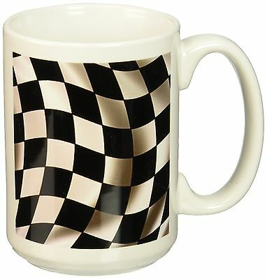 3dRose Race Flag Banner Checker Chequer Finish Racing Motor Sports Waving Cer...