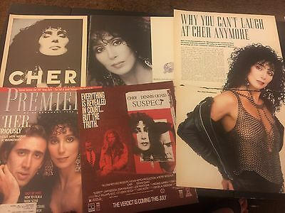 Cher - Magazine cuttings / clippings from UK and USA 80s/90s
