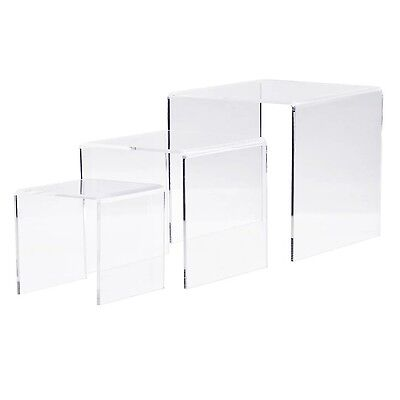 "Combination of Life Clear Acrylic Riser Set of 3 (3-Inch 4-Inch 5-Inch) 3""4""5"""