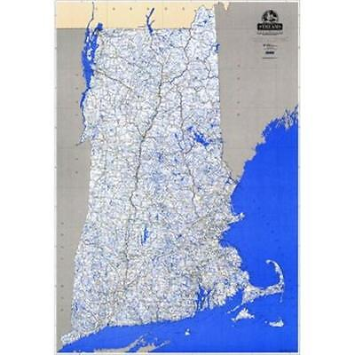 Vivid Publishing 104421 Stream Map of New England Lam