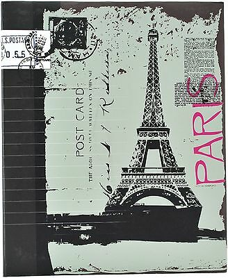 Pinnacle Frames and Accents Eiffel Tower 440-Pocket Ring Bound Photo Album