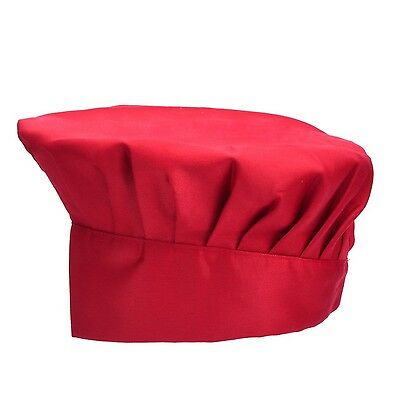 Antner Chef Hat Adjustable Elastic Cooking CapWine Red WineRed