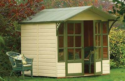 Eaton Wooden Apex Tongue and Groove Garden Summerhouse Cabin - 8 x 7ft :Argos