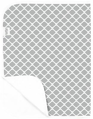 Kushies Baby Deluxe Change Pad Grey Lattice