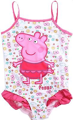 Toddle Peppa Pig-Baby Girls Flower Flounced One Piece Tankini Swimsuit Swimwear