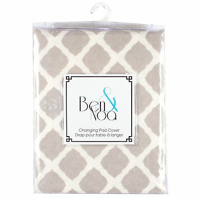 Kushies Baby Flannel Fitted Change Pad Sheet Grey Lattice