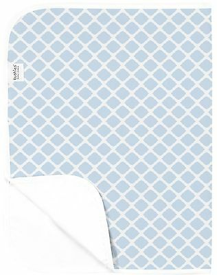Kushies Baby Deluxe Change Pad Blue Lattice