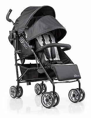 Summer Infant 3D Two Double Convenience Stroller Black