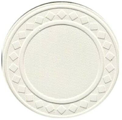 Trademark Poker 10-1010WHI-100  Super Diamond Clay Composite Chips Set of 100...