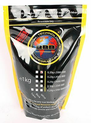 Soft Air 805025 Bioval Biodegradable BB's 5000 Count 0.20g (White)