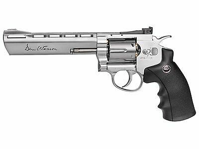 ASG 17611 Dan Wesson 6-Inch CO2 Powered Pellet Air-Revolver Silver