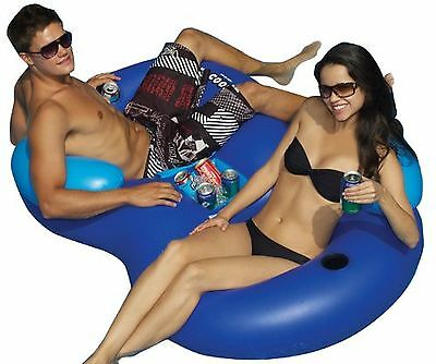 Solstice by International Leisure Products  Double Tube Cooler Float
