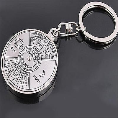 Unique Metal Key Chain Ring 50 Years Perpetual Calendar Keyring Keychain Gift S