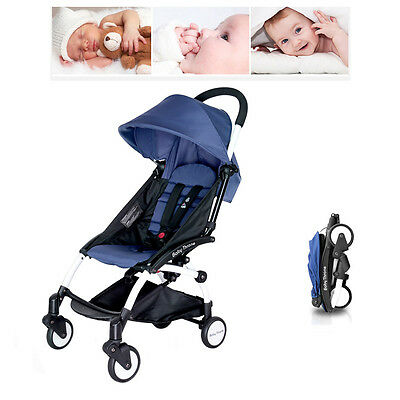 Newborn Baby Prams Infant Ride-On Travel Stroller Blue Carriage Pushchair UK