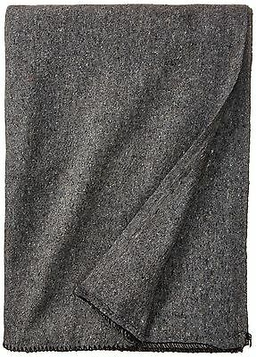Stansport Wool Blanket Gray 60 x 80-Inch