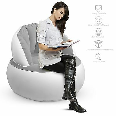 Inflatable Sofa OJA Inflatable Chair Portable Air Lounger Couch Super Comfort...