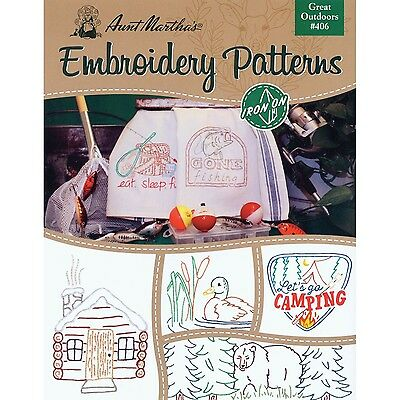 AUNT MARTHA's Great Outdoors Embroidery Transfer Pattern Book Kit
