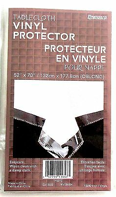 CLEAR PLASTIC TABLECLOTH PROTECTOR 52 x 70 OBLONG