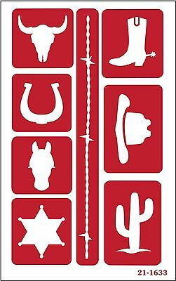 Armour Etch 21-1633 Etch Over N Over Stencil Western