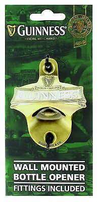 Wall Mounted Bottle Opener (Fittings Included) - Guinness Ireland Collection