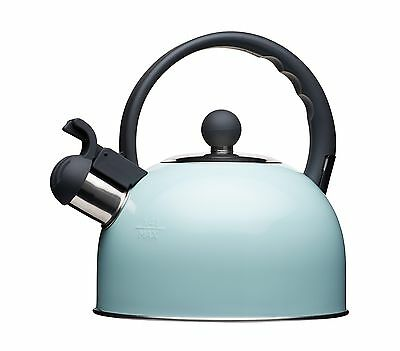 Kitchen Craft Living Nostalgia induction-safe bollitore a fischio, colore: blu
