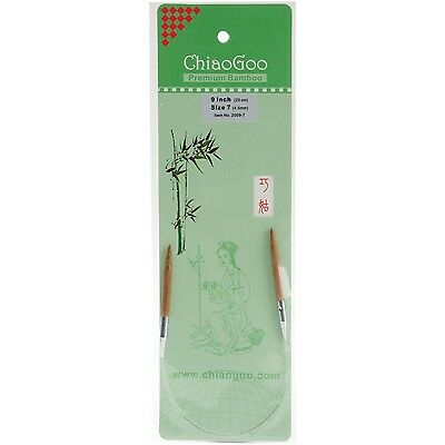 ChiaoGoo 9-Inch Bamboo Circular Knitting Needles 7/4.5mm