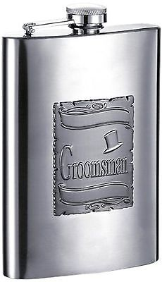 "Visol ""Celebrate"" Stainless Steel Flask 8-Ounce Chrome"